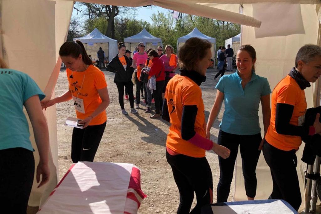 Etudiants du CEESO pendant le Soli'Run